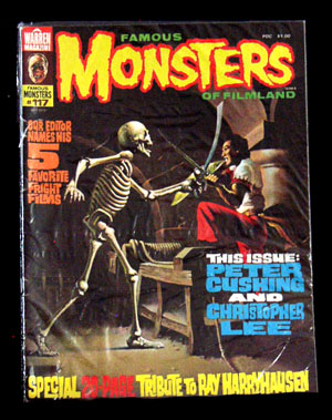Pictured is the July 1977 issue of Warren Magazine #117 Famous Monsters of Filmland.