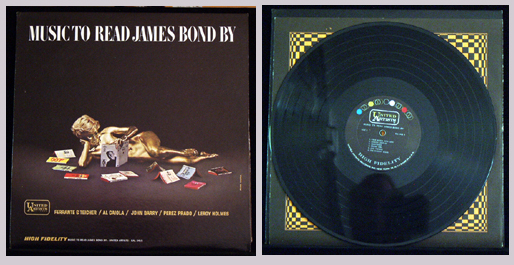 Pictured is the United Artists monaural LP UAL 3415 Music to Read James Bond By.