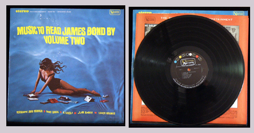 Pictured is the United Artists LP UAS 6541 Music to Read James Bond By Volume Two.
