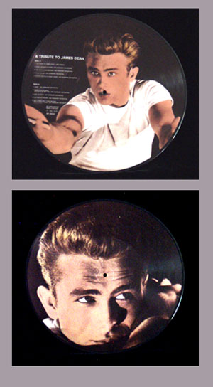 Pictured is a 1985 Danish Tribute to James Dean picture disk.