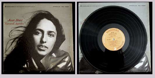 Pictured is the 1965 Joan Baez LP Farewell Angelina Vanguard VSD-79200.
