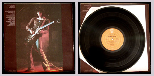 Pictured is the 1975 Jeff Beck LP Blow by Blow Epic PE-33409.