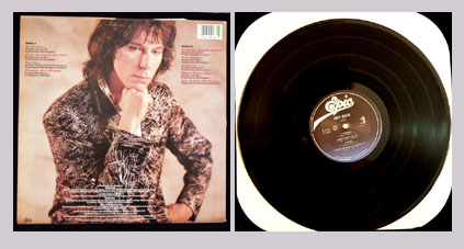 Pictured is the 1985 Jeff Beck LP Flash Epic FE-39483.