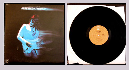 Pictured is the 1976 Jeff Beck LP Wired LP Epic PE-33849.