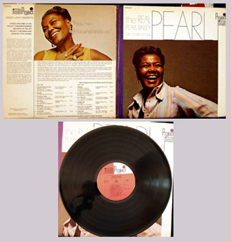 Pictured is the the Pearl Bailey LP The Real Pearl Bailey Recorded 1968 Project PR5022SD.