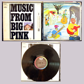 Pictured is the 1968 The Band LP Music from Big Pink Capitol black rainbow label SKAO-2955.