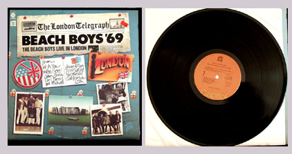 Pictured is the Beach Boys LP Live in London Capitol R-123790.