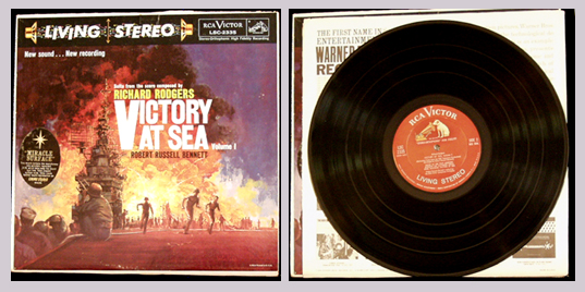 Pictured is volume 1 of the Victory at Sea suite for for the television documentary composed by Richard Rodgers and directed by Richard Bennett.