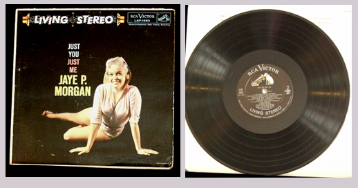 Pictured is 1958 RCA Jaye P. Morgan LP Just You Just Me LSP-1682.