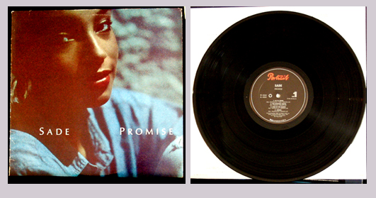 Pictured is the 1985 Sade LP Promises Portraait FR40263.