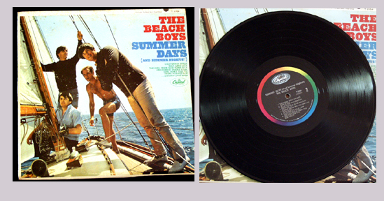 Pictured is the 1965 Beach Boys LP Summer Days monaural capitol T-2345.