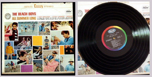 Pictured is the 1964 Beach Boys All Summer Long LP Capitol ST-2110.