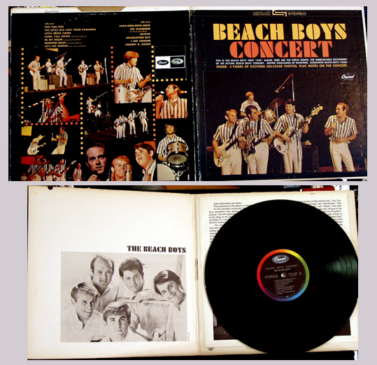 Pictured is the 1964 Beach Boys Concert LP Capitol STAO 2198.